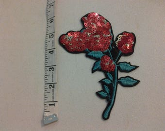 Sequined Rose applique 248441