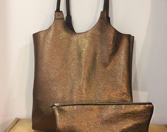 Bronze Tote Handmade Bag