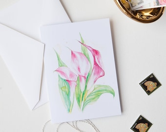 Spring Flower Calla Lilies Greeting Card Set of 5