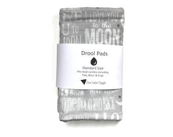 Drool Pads - To the moon - Ready to ship