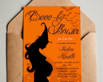 Halloween Baby Shower Invitation Etsy - Halloween baby shower invitations