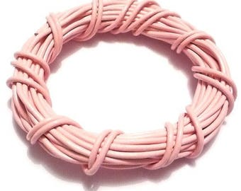 O1.5mm light pink leather cord (1 M)