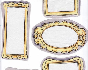Application textile 8 cadresde taille différentes pour votre srap textile ou papier