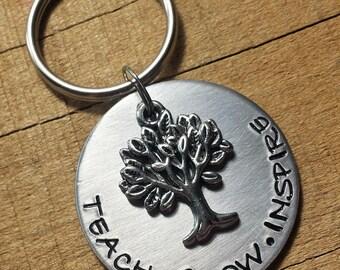 Teacher Gift - Teacher Keychain - Gift for Teacher - Teacher Key chain - Best Teacher - Educator Gift - Teacher Appreciation - #1 Teacher