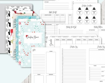 TN A6 Size: Christmas Planner, Printable Travelers Notebook Insert, A6 TN Inserts, Holiday, Budget, Gifts, Meal Planner, Elf Planning