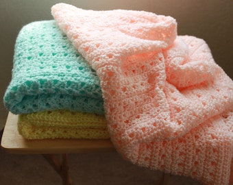 Hand Crochet Baby Blanket - Beautiful and soft