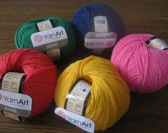 Crochet yarn, knitting yarn, baby cotton yarn, cotton blend, Jeans yarn art, summer yarn, amigurumi, cotton yarn online, blanket yarn