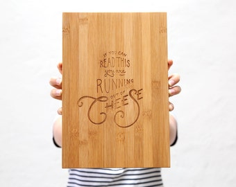 Cheese Board Engraved Large | Gifts for Her | Gifts for Him | Wedding Gift | Anniversary Gift | Serving Platter | Bread Board | Cheese Plate