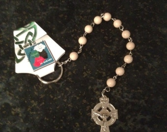 Hand Carved Ulster White Marble Penal Rosary Beads