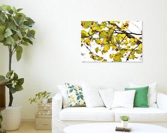 Nature Photography, Leaves Photography, Leaves Photo, Fall Art, Botanical Art Print, Green Leaves Print, Tree Photo, Leaves Print, Wall Art