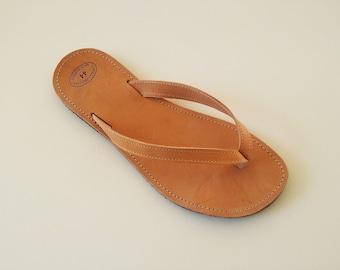 Women Leather Flip Flops - Greek Handmade Flip Flops