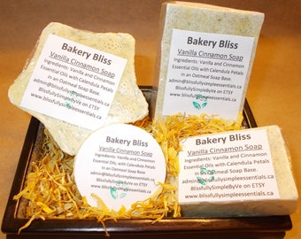 Bakery Bliss - Vanilla Cinnamon Oatmeal Soap - Handmade