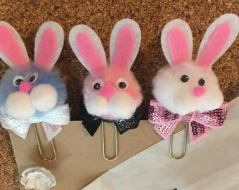 6 Bunny Clips with Glassine Bags