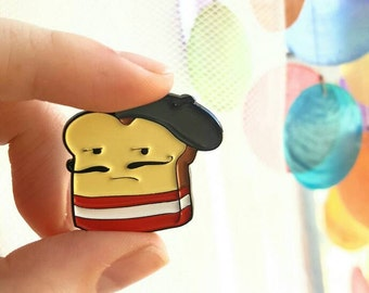 French Toast Enamel Pin - Lapel Pin