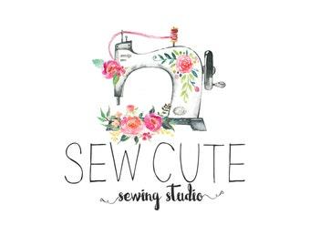Premade Custom Logo -SEW CUTE- Premade Logo, Photography Logo, Logo Design, Logo Branding, Photographer Logo, Boho Logo