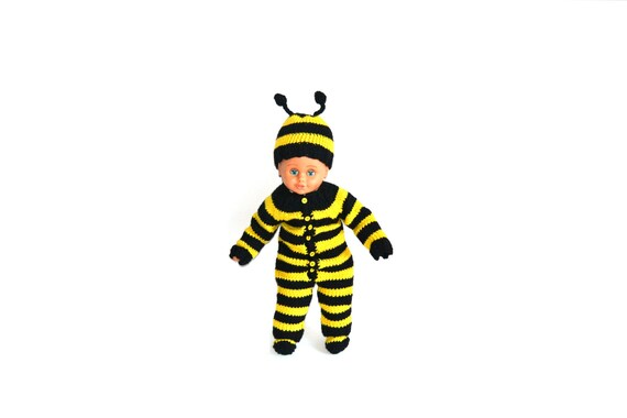 sc 1 st  Etsy & Hand Knitted Baby Bumble Bee Costume Set Romper Hat and