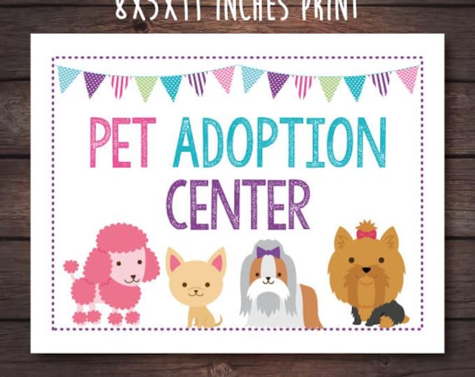 Pet adoption center sign, Instant Download