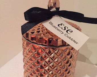 Rose Gold Diamond cut candle by Exotic Soy Candle - Blueberry Cobbler