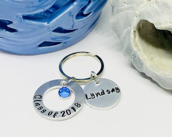 High school graduation gift for her, Graduating class of 2018, Senior 2018 graduation gift for him, New driver keychain, Senior night gifts
