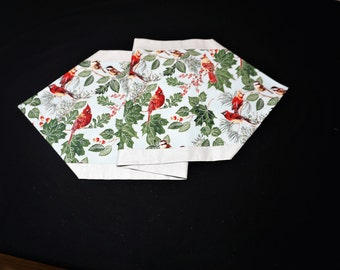 Silver and red table runner Winter table runner Bird table runner Winter table runner Christmas table runner