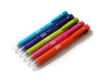 5pcs Zebra Clip-on multi F B4SA1 Light Blue, Violet, Light Green, Pink and Orange 0.7mm Multifunctional Pen(0.7mm 4C Ballpoint+0.5mm Pencil)