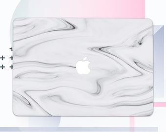 Marble MacBook Case MacBook Air MacBook Pro 15 Case MacBook Stone Case MacBook Pro 13 Case Minimalist White Laptop Case Macbook Cover MC4256