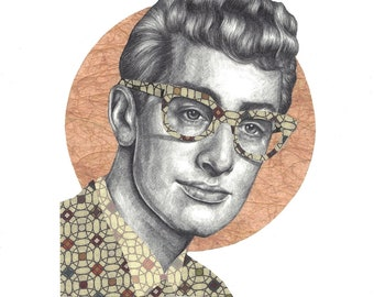 Buddy Holly Limited Edition Print A4