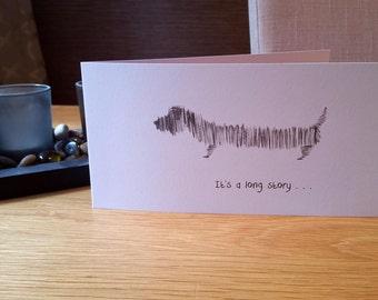 Long Dog Greeting Card
