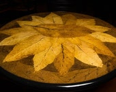 """36"""" Hand-Crafted Tobacco Leaf Table Top (Starburst Design) - Available in 24""""- 48"""""""