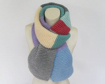 Knit / Color Block Scarf