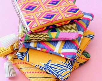 coin pouches - card pouches - money pouch in six different prints