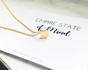 Gold Spade Necklace, tiny spade necklace, ace of spades necklace, new york necklace, ace necklace, meaningful gift, 14k