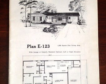 Hous eplan etsy vintage house plans catalog various 1970s home designs blueprints 48p malvernweather Image collections