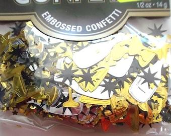 bag of confetti theme party CHAMPAGNE - color Silver-Gold-black REF. 505