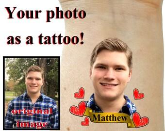 Bachelorette party tattoos, groom tattoos, photo tattoos, party favors, bachelorette tattoos, party gift, temporary tattoos, custom tattoos