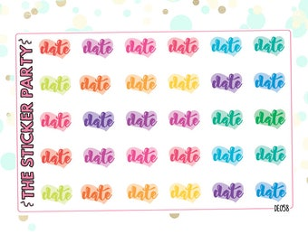 Date Planner Stickers