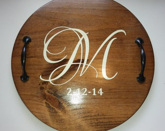 Personalized Monogrammed Serving Tray for Weddings or Formal Events