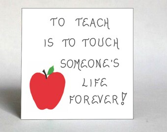 Fridge Magnet about teachers.  Quote - Thank you, instructor, tutor, educator