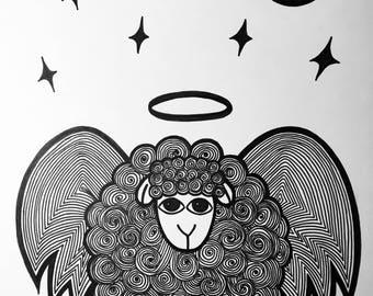 Holy sheep artwork