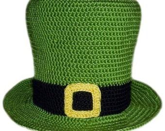 Leprechaun Hat  (5 Sizes) - PDF Crochet Pattern - Instant Download