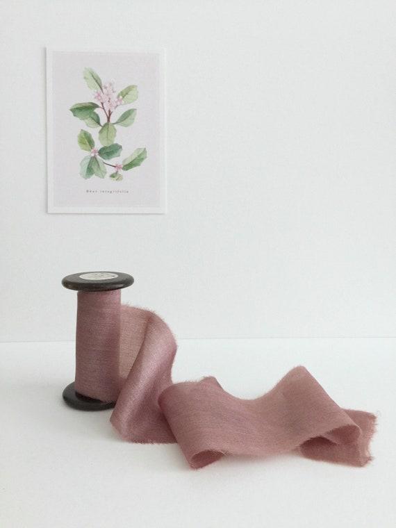 MAUVE ROSE Plant Dyed Silk Ribbon