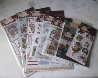 x 1 kit complete Victorian scrapbooking (vintage) on the theme of Christmas