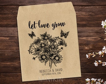 Seed Packet Wedding Favor Seed Packet Favor Rustic Wedding Flower Seed Packet Seed Wedding Favor Wedding Favor Personalized Favor x 25