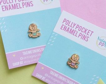 BABY - Polly Pocket hard enamel pin. Mint or Lilac!