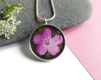 Flower Necklace - Boho Necklace - Gift For Her - Boho Jewelry - Unique Necklace - Nature Jewelry - Handmade Jewelry - Dainty Necklace