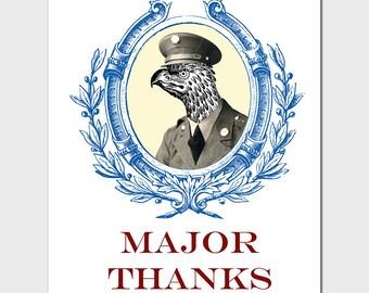Major Thanks Card
