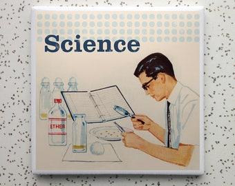 Vintage Science Tile Coaster