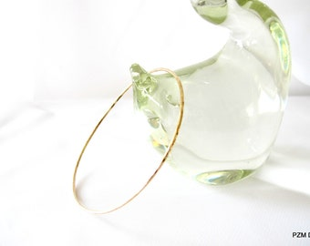 Gold stacking bangle, 14kt gold fill bangle, simple everyday jewelry gift under 30