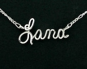 Personalized Ankle Bracelet, Sterling Silver, Beach Wear, Anklet, Script Writing, Gift for Her, Beach Wedding, Bridesmaid Gift, Sweetheart