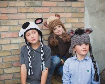 Crochet pattern Donkey Hat Pattern. Instant Digital download CP201DH